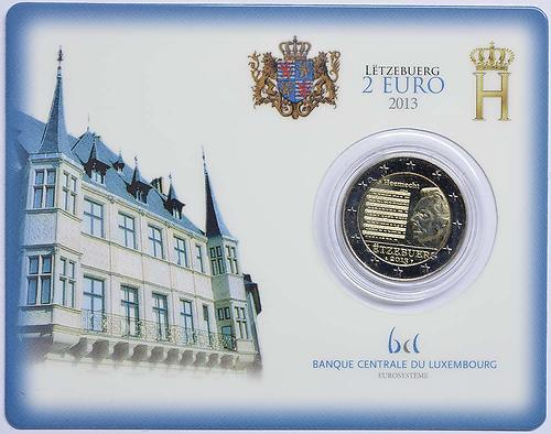 Lieferumfang:Luxemburg : 2 Euro Nationalhymne  2013 Stgl.
