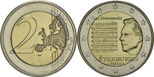 Lieferumfang:Luxemburg : 2 Euro Nationalhymne  2013 bfr