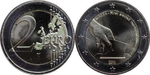 Lieferumfang:Malta : 2 Euro Wahl der ersten Abgeordneten 1849  2011 bfr