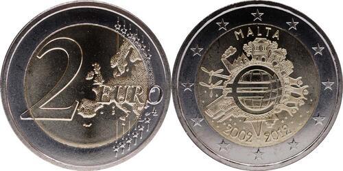 Lieferumfang:Malta : 2 Euro 10 Jahre Euro Bargeld  2012 bfr