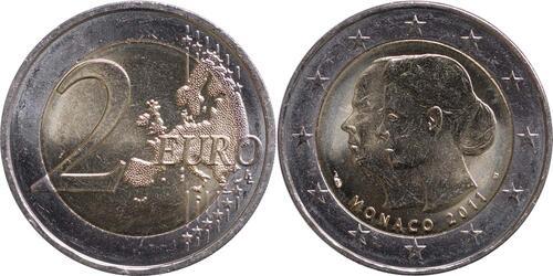 Lieferumfang:Monaco : 2 Euro Hochzeit Charlene und Albert  2011 bfr