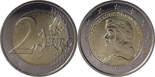 Lieferumfang:Monaco : 2 Euro 500 Jahre Souveränität Monacos  2012 bfr