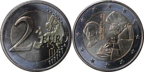 Lieferumfang:Niederlande : 2 Euro Erasmus  2011 bfr 2 Euro Erasmus Niederlande 2011