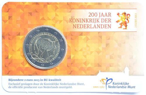 Lieferumfang:Niederlande : 2 Euro Königreich  2013 Stgl.