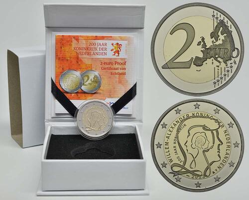 Lieferumfang:Niederlande : 2 Euro Königreich  2013 PP