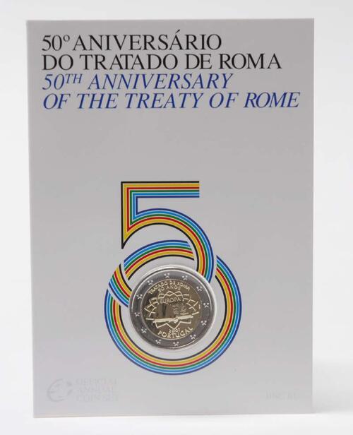 Lieferumfang:Portugal : 2 Euro Römische Verträge im Originalblister  2007 Stgl.