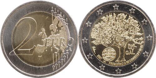 Lieferumfang:Portugal : 2 Euro EU-Präsidentschaft  2007 bfr