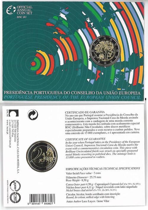 Lieferumfang:Portugal : 2 Euro EU-Präsidentschaft im Originalblister  2007 Stgl.