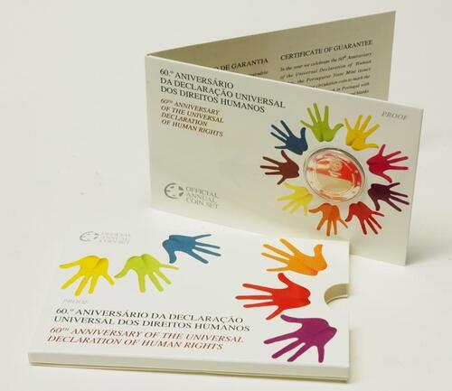 Lieferumfang:Portugal : 2 Euro Menschenrechte im Originalblister  2008 PP Portugal 2 Euro Menschenrechte PP 2008
