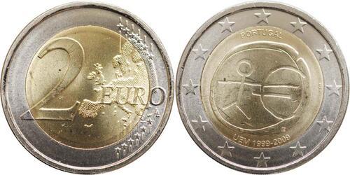 Lieferumfang:Portugal : 2 Euro 10 Jahre Euro  2009 bfr