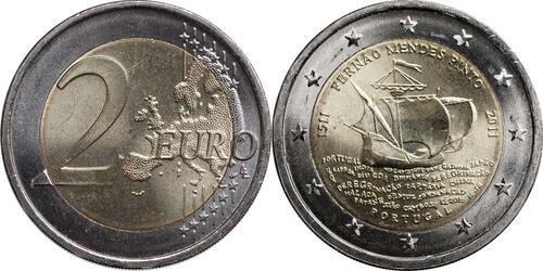 Lieferumfang:Portugal : 2 Euro 500. Geburtstag von Fernao Mendes Pinto  2011 bfr 2 Euro Pinto 2011