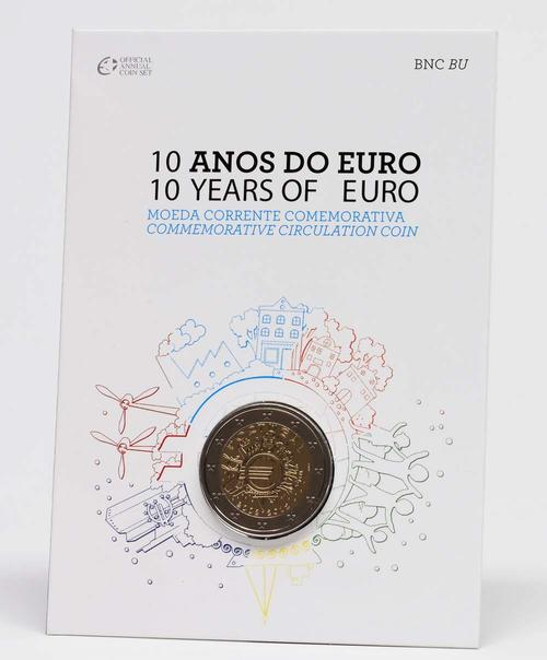Lieferumfang:Portugal : 2 Euro 10 Jahre Euro Bargeld  2012 Stgl.