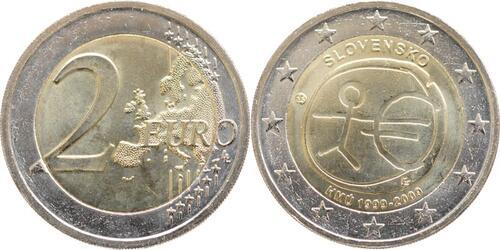 Lieferumfang:Slowakei : 2 Euro 10 Jahre Euro  2009 bfr