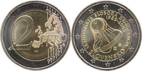 Lieferumfang:Slowakei : 2 Euro Samtene Revolution  2009 bfr 2 Euro Slowakei 2009