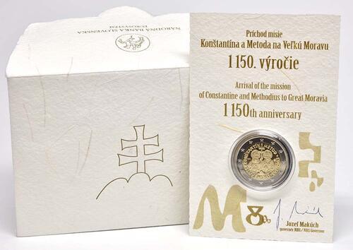 Lieferumfang:Slowakei : 2 Euro Cyrill und Method  2013 PP