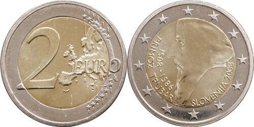 Lieferumfang:Slowenien : 2 Euro Primoz Trubar  2008 bfr 2 Euro Trubar 2008 ; 2 Euro Slowenien 2008