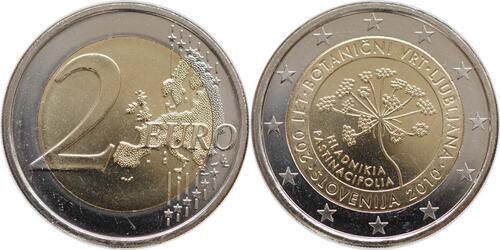 Lieferumfang:Slowenien : 2 Euro 200 Jahre Botanischer Garten Ljubljana  2010 bfr