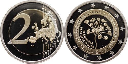 Lieferumfang:Slowenien : 2 Euro 200 Jahre Botanischer Garten Ljubljana  2010 PP