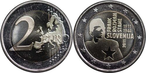 Lieferumfang:Slowenien : 2 Euro Rozmann  2011 bfr