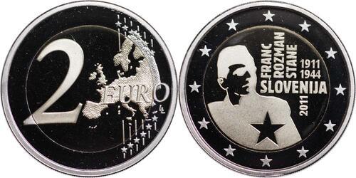 Lieferumfang:Slowenien : 2 Euro Rozmann  2011 PP