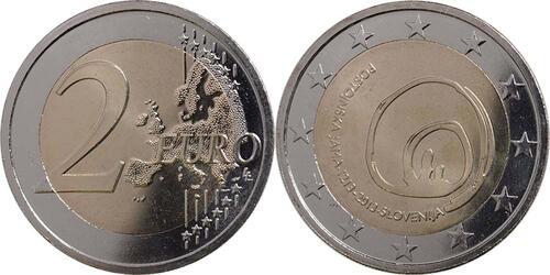 Lieferumfang:Slowenien : 2 Euro Höhlen von Postojna  2013 bfr