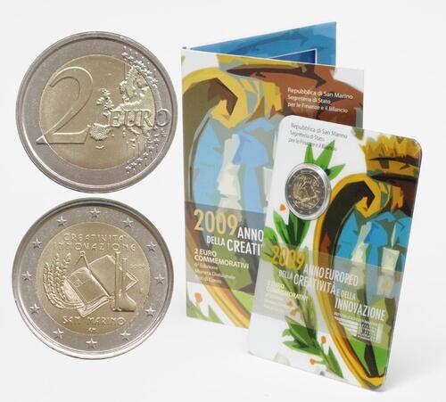 Lieferumfang:San Marino : 2 Euro Europäisches Jahr der Kreativität und Innovation  2009 Stgl. 2 Euro San Marino 2009