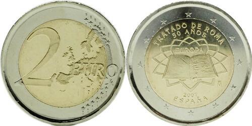 Lieferumfang:Spanien : 2 Euro Römische Verträge  2007 bfr