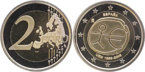 Lieferumfang:Spanien : 2 Euro 10 Jahre Euro  2009 PP