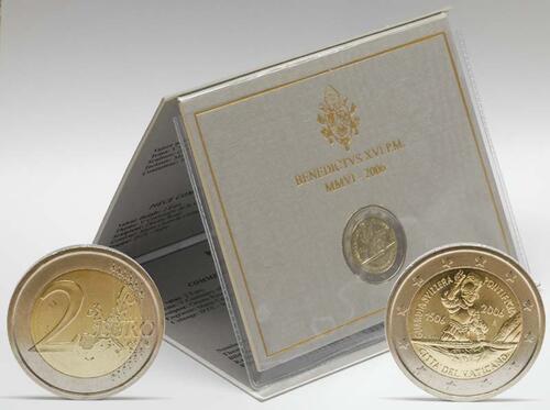 Lieferumfang:Vatikan : 2 Euro Schweizer Garde  2006 Stgl. 2 Euro Vatikan 2006