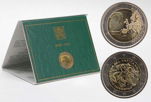 Lieferumfang:Vatikan : 2 Euro Priesterjahr  2010 Stgl. 2 Euro Vatikan 2010