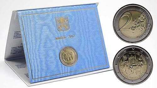 Lieferumfang:Vatikan : 2 Euro 7. Weltfamilientreffen  2012 Stgl.