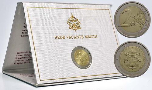 Lieferumfang:Vatikan : 2 Euro Sede Vacante  2013 Stgl.