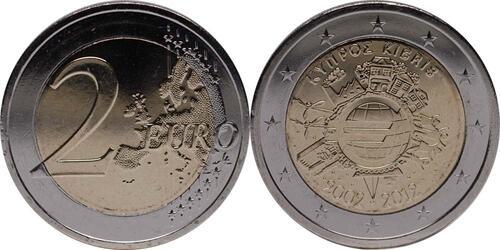 Lieferumfang:Zypern : 2 Euro 10 Jahre Euro Bargeld  2012 bfr