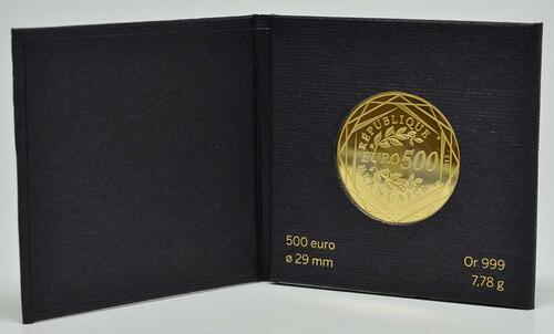 Lieferumfang:Frankreich : 500 Euro Republik  2013 Stgl.