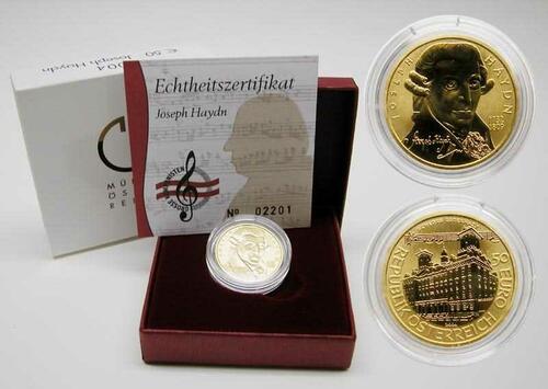 Lieferumfang:Österreich : 50 Euro Joseph Haydn  2004 Stgl.