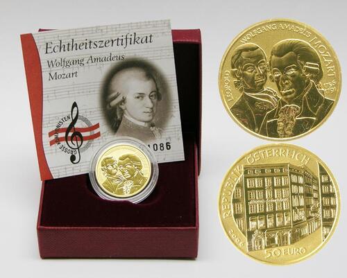 Lieferumfang:Österreich : 50 Euro Wolfgang Amadeus Mozart  2006 PP 50 Euro Mozart; 50 Euro Österreich 2006