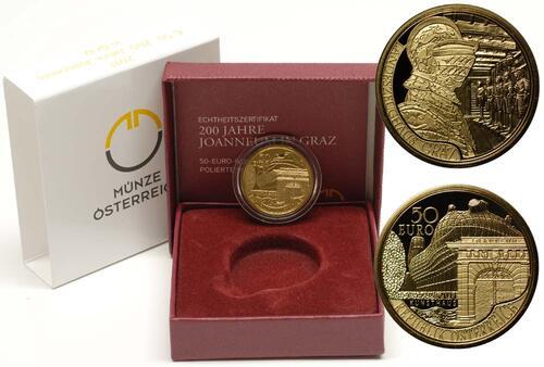 Lieferumfang:Österreich : 50 Euro 200 Jahre Joanneum in Graz  2011 PP