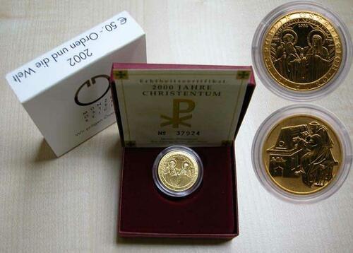 Lieferumfang:Österreich : 50 Euro Orden und die Welt  2002 Stgl.