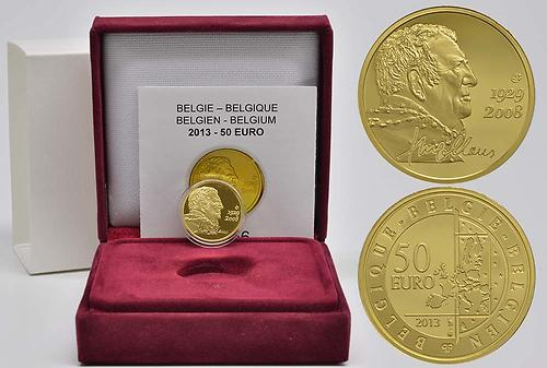 Lieferumfang:Belgien : 50 Euro Hugo Claus  2013 PP