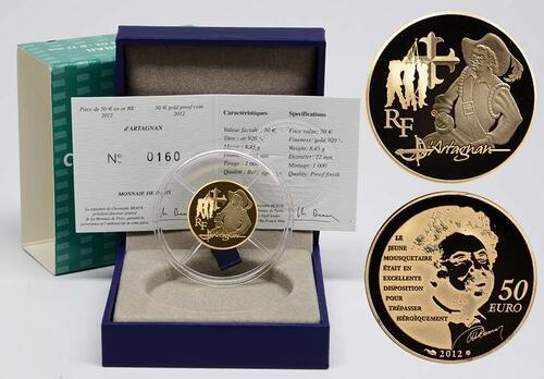 Lieferumfang:Frankreich : 50 Euro D'Artagnan  2012 PP