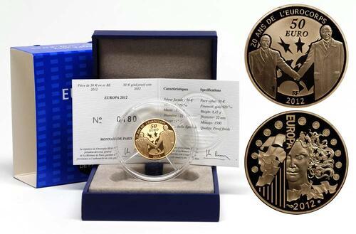Lieferumfang:Frankreich : 50 Euro 20 Jahre Eurokorps  2012 PP
