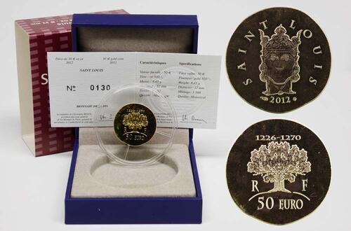 Lieferumfang:Frankreich : 50 Euro Saint Louis IX  2012 Stgl.