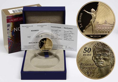 Lieferumfang:Frankreich : 50 Euro Rudolf Nureyev - Tanz  2013 PP