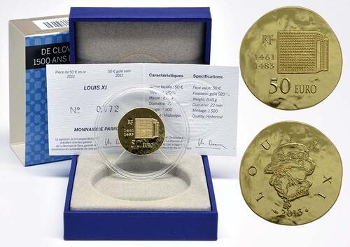 Lieferumfang:Frankreich : 50 Euro Louis XI.  2013 vz/Stgl.