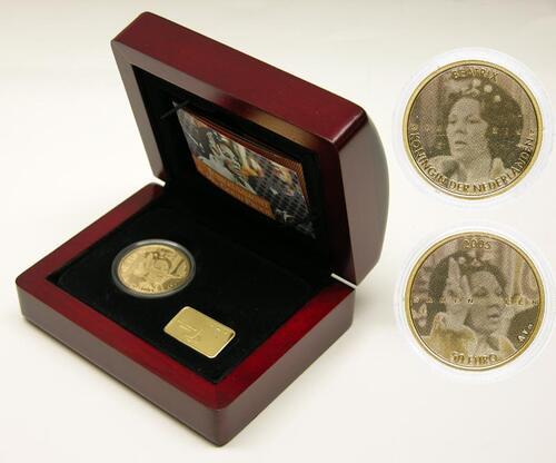 Lieferumfang:Niederlande : 50 Euro Jubiläum Beatrix  2005 PP
