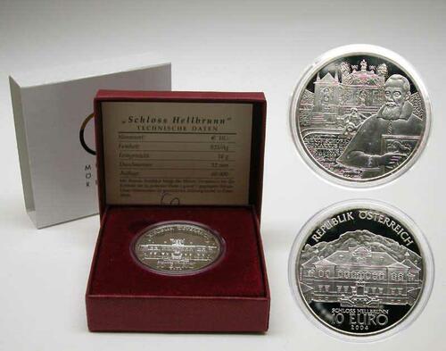 Lieferumfang:Österreich : 10 Euro Schloß Hellbrunn  2004 PP