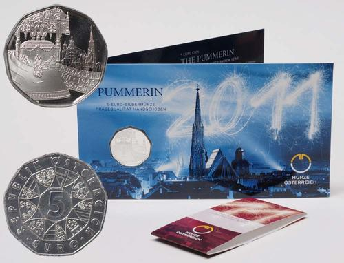 Lieferumfang:Österreich : 5 Euro Pummerin  2011 Stgl.