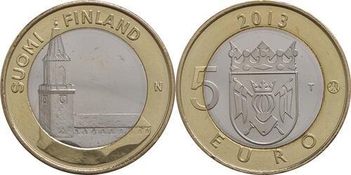 Lieferumfang:Finnland : 5 Euro Finnland - Kathedrale Turku  2013 Stgl.