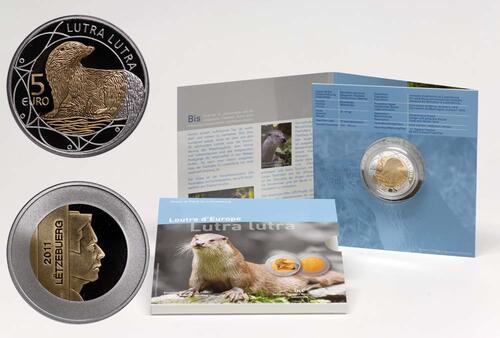 Lieferumfang:Luxemburg : 5 Euro Fischotter  2011 PP