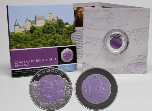 Lieferumfang:Luxemburg : 5 Euro Burg Bourscheid  2012 PP NIOB